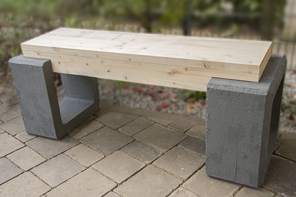 Berühmt Sitzbank aus Beton und Holz ‹ Martina Lammel BN89